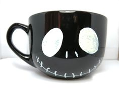 Jack+Skellington+big+black+coffee+mug+by+CoralBelMugs+on+Etsy,+$22.48