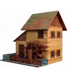 Como hacer artesanias de palillos y pinchos barbacoa enrhedando madera pinterest - Casa munecas eurekakids ...
