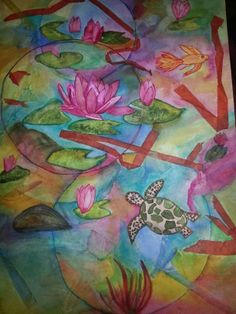 Watercolor by Gwendolyn Cunningham copyright 02/13