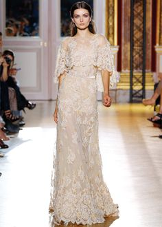 Zuhair Murad Haute Couture Collection Wedding Gown with Capelet