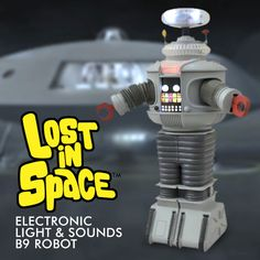 FabGearUSA - Lost in Space B9 Electronic Robot Action Figure, $44.95 (http://www.fabgearusa.com/lost-in-space-b9-electronic-robot-action-figure/)