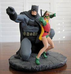 Dark Knight Strikes Again Statue with Robin @ niftywarehouse.com #NiftyWarehouse #Batman #DC #Comics #ComicBooks