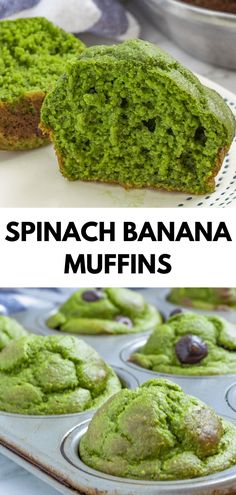 Recipes Snacks Baking These spinach banana muffins are a kid-friendly healthy blender muffin, lightly sweetened and full of fruits and veggies! They're great for meal prep, busy weekday mornings, and are quite freezer-friendly! Spinach Muffins, Veggie Muffins, Healthy Banana Muffins, Healthy Breakfast Muffins, Breakfast Recipes, Kid Friendly Healthy Breakfast, Healthy Muffins For Kids, Healthy Breakfast Meal Prep, Gluten Free Banana