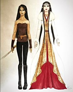 Princess Arya drontting and queen islanzadi