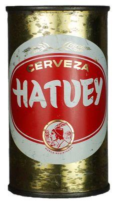 1950s Cuba Bacardi Cerveza Hatuey Beer Can - Havana Collectibles