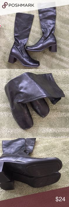 "Leather boots Liz Claiborne size 8.5 'Lizflex"". Soft Leather...worn but very good condition Liz Claiborne Shoes Heeled Boots"