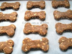 Applesauce and oat dog cookies