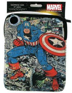 Housse tablette tactile Captain America Marvel