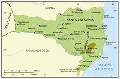 GuiaNet. O Guia do Brasil. - Mapa do Estado de Santa Catarina.