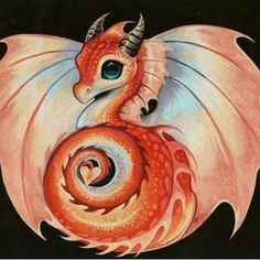 This is Ariel. She is a baby dragon with the power of fire and heat. She is the daughter of the ultimate demon dragon. She is the young sister of Cynder. She is different for some reason though. Little Dragon, Red Dragon, Fantasy Dragon, Fantasy Art, Cute Dragon Drawing, Dragon Artwork, Dragon Pictures, Cute Dragons, Dibujos Cute