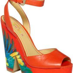 """Spotted while shopping on Poshmark: """"Nine West Orange Troi Chic Platform Sandals""""! #poshmark #fashion #shopping #style #Nine West #Shoes"""