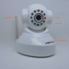 """Genuine New version smaller and lighter FOSCAM Wi-Fi IP Camera Pan:300°:120°with Freely control IR-LED on/off and High image quality,2-way audio,night version up to 8 meters(White) by electree. $81.99. Motion detection alert via email or upload image to FTP  Image Sensor?1/4"""" Color CMOS Sensor?Disaplay Resolution? 640 x 480 Pixels(300k Pixels)?Lens ? f: 3.6mm, F:2.4 (IR Lens)? Mini. Illumination?0.5Lux?Lens Type?Glass Lens?Viewing Angle? 67 Degree?Input?Built-..."""
