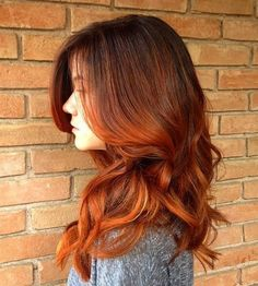 dark+brown+to+red+ombre