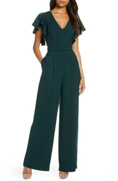 Looking for Eliza J Flutter Sleeve Belted Satin Jumpsuit ? Check out our picks for the Eliza J Flutter Sleeve Belted Satin Jumpsuit from the popular stores - all in one. Asos Jumpsuit, Satin Jumpsuit, Jumpsuit Outfit, Formal Jumpsuit, Casual Jumpsuit, Jumpsuit With Sleeves, Elegante Jumpsuits, Wedding Jumpsuit, Wedding Guest Jumpsuits