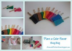 Around a Mother's Knee: Plant the Color Flower Busy Bag