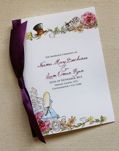 Alice in Wonderland Wedding Invitations | http://simpleweddingstuff.blogspot.com/2014/05/alice-in-wonderland-wedding-invitations.html