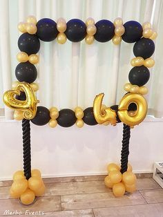New Cake Ideas Birthday Ideas Golden Birthday, 60th Birthday Party, Mom Birthday, Birthday Party Decorations, Birthday Celebration, Gold Party, Holidays And Events, Balloons, Fruit Ideas
