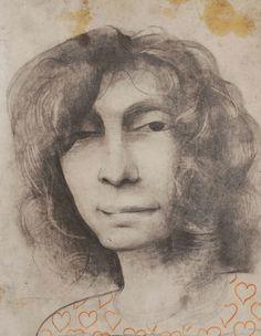 """Stefano Galli: """"mamma"""" grafite su cartone 35x25 cm"""