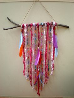 I'm loving the colours in this wall hanging I made. For sale at https://www.etsy.com/au/listing/241530207/wall-hanging-hanging-mobile-dream?ref=shop_home_active_9
