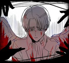 Shingeki no Kyojin - Levi (Rivaille) I kinda feel same thing when so much of people ask me for help.