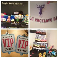 Purple Rock-a-Bye Baby Shower