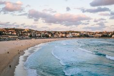Bondi Beach sunset. #travel #sydney #beach / / / / / Check out more travel photos and blog posts on my travel blog, frugalfrolicker.com