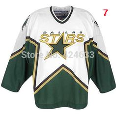 1999 pres season Custom any name/NO./SIZE Dallas Stars Jersey home ...