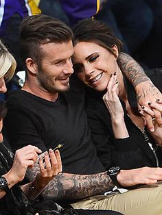 David and Victoria Beckham <3