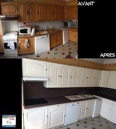Ma cuisine en chêne repeinte : avant après | rénovation cuisine ...