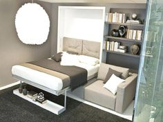 Tips for small bedroom: wall mounted bed, bed in a closet, folding bed - Virily