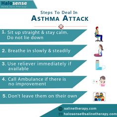 If you find yourself in a situation where there is an asthma emergency, remember to follow the steps mentioned here. 1. Sit up straight & stay calm. Do not lie down 2. Breathe in slowly & steadily 3. Use reliever immediately if available 4. Call Ambulance if there is no improvement 5. Don't leave them on their own #AsthmaAttack #StepsToDealInAsthma #SalineTherapy Stay Calm, Sit Up, Asthma, Ambulance, Breathe, Finding Yourself, Therapy, Keep Calm, Keep Clam