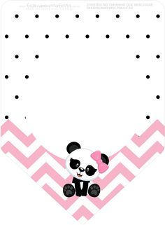 Uau! Veja o que temos para Bandeirinha Varalzinho 3 Panda Rosa Personalizados para Festa Panda Themed Party, Panda Birthday Party, Panda Party, Cute Panda Wallpaper, Wallpaper Iphone Cute, Pink Panda, Panda Bear, Panda Baby Showers, Panda Wallpapers
