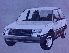 OG | 1985 Autobianchi / Lancia Y10 | Early design design sketch