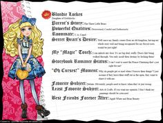 Ever After High - Holly O'Hair's Full Bio v3 by cjlou-the-bejeweler on DeviantArt