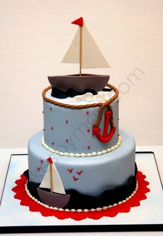 Sailboat Baby Shower Cake  on Cake Central