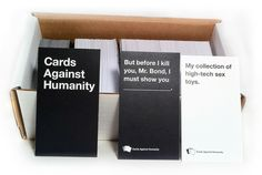 Case Study: Cards Against Humanity Birthday Gag Gifts, Party Gifts, Hearts Playing Cards, Study Cards, Fun Card Games, Horrible People, Case Study, Bond, Product Launch