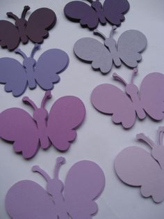 40 Butterflies. 4 inch. CHOOSE YOUR COLORS. Custom Orders Welcome.  Purple, Lavender, Iris, Lilac. by TreeTownPaper on Etsy
