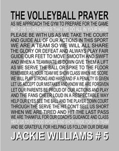 Volleyball Workouts Discover The Volleyball Prayer Personalized with Volleyball Senior night Sports banquet Volleyball print Volleyball poster prayer Sport Volleyball, Volleyball Jokes, Volleyball Cheers, Volleyball Motivation, Volleyball Posters, Volleyball Skills, Volleyball Training, Volleyball Workouts, Coaching Volleyball