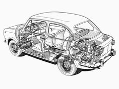 1964-1971 Fiat 850 - Illustration credited to Franco Rosso