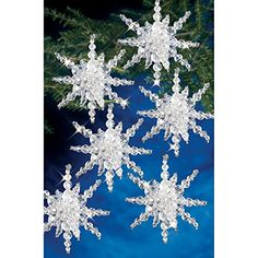 #Beadery Holiday Snow Cluster Beaded Ornament Kit features all the beads you need to make amazing holiday ornaments. Made in USA.