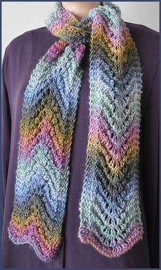 Mochi Plus Feather-Fan Scarf, (knit pattern).  Feather & Fan has always been one of my favorite patterns.