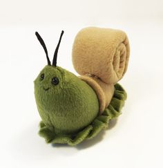 Green Snail Mail  soft plush snail toy by FluffEngine on Etsy, $24.00