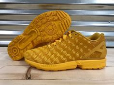 a568532cf0a03 ... promo code for adidas zx flux j running shoes gold yellow mens sz 6  womens 7