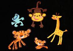 Set 5 Safari Theme Baby Shower Jungle Cake Toppers by SweetcreationsbyGigi Jungle Cake, Fondant Cake Toppers, Safari Theme, Jungle Animals, Baby Shower Themes, Christmas Ornaments, Holiday Decor, Handmade Gifts, Etsy