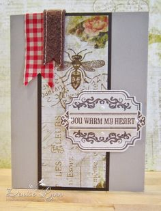 Clearly Whimsy Stamps card by Denise Lynn using Time for Tea stamps and dies