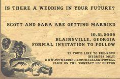 ouija wedding invitations!