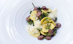 Orecchiette with Smoked Lamb Sausage and Dandelion Greens