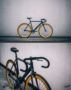 Another nicely finished Pure Fix keirin track bike ! All black with gold rims always looks good ! Steershop Bruges.