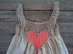 Summer baby dress Organic Hand Crocheted Baby Love от TheBabemuse