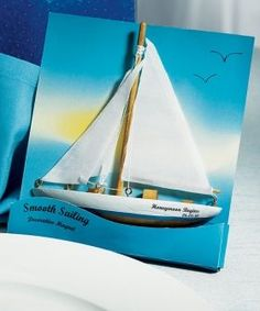 """As nautical wedding favors, our """"Smooth Sailing"""" Sailboat Magnet Gift Favor are superb. Also ideal as beach wedding favors. Wedding Favours Magnets, Nautical Wedding Favors, Personalized Wedding Favors, Unique Wedding Favors, Gifts For Wedding Party, Nautical Party, Wedding Ideas, Wedding Decor, Wedding Stuff"""